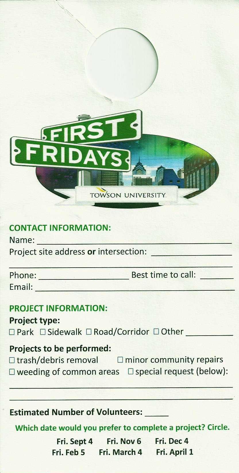 Towson University First Fridays in the Neighborhood