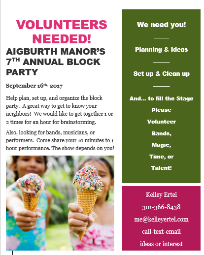 Block Party Help 2017