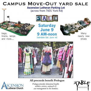 Campus Move-Out Yard Sale @ Ascension Lutheran Parking Lot | Towson | Maryland | United States
