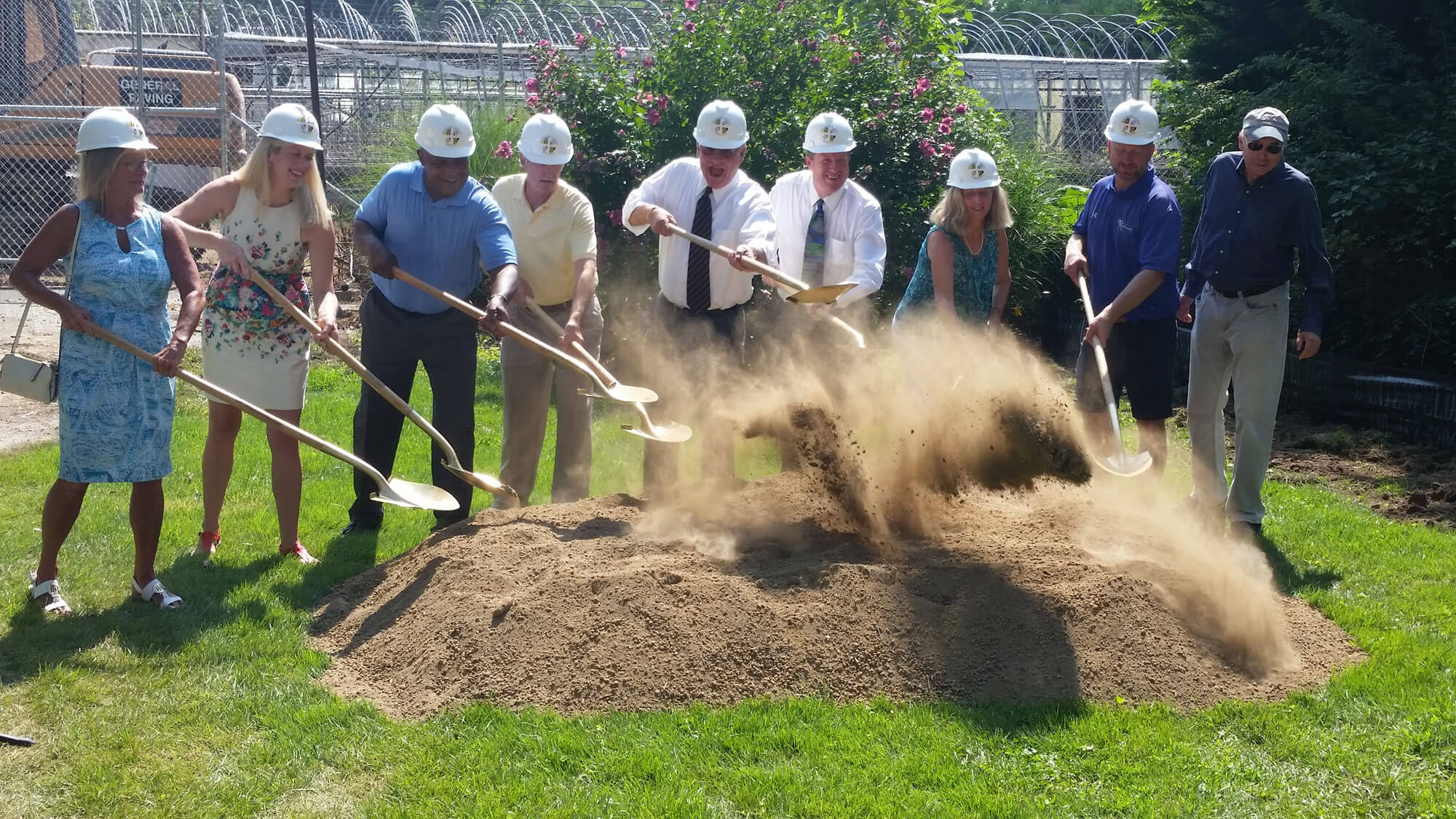 Radebaugh Park groundbreaking, August 28, 2018