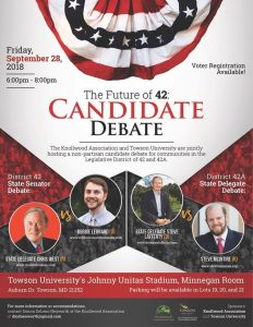 The Future of 42: Candidate Debate @ Minnegan Room, Johnny Unitas Stadium | Towson | Maryland | United States