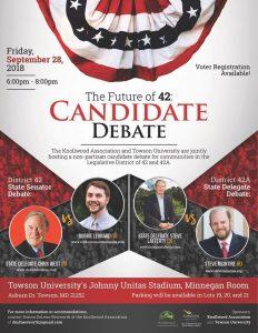 The Future of 42: Candidate Debate @ Minnegan Room, Johnny Unitas Stadium | Towson | Maryland | United States