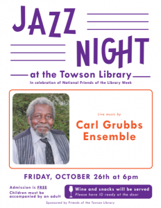 Jazz at the Towson Library @ Towson Library | Towson | Maryland | United States